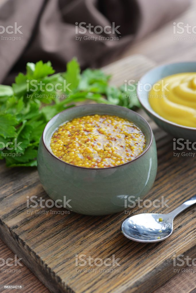Mustard in the assortment 免版稅 stock photo