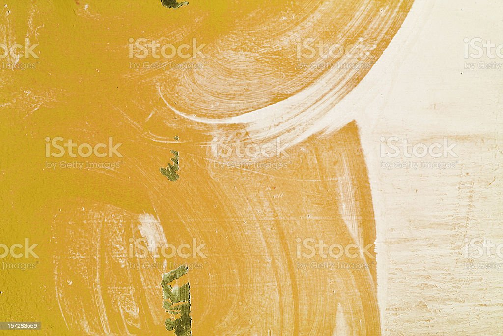 Mustard Paint Layer royalty-free stock photo