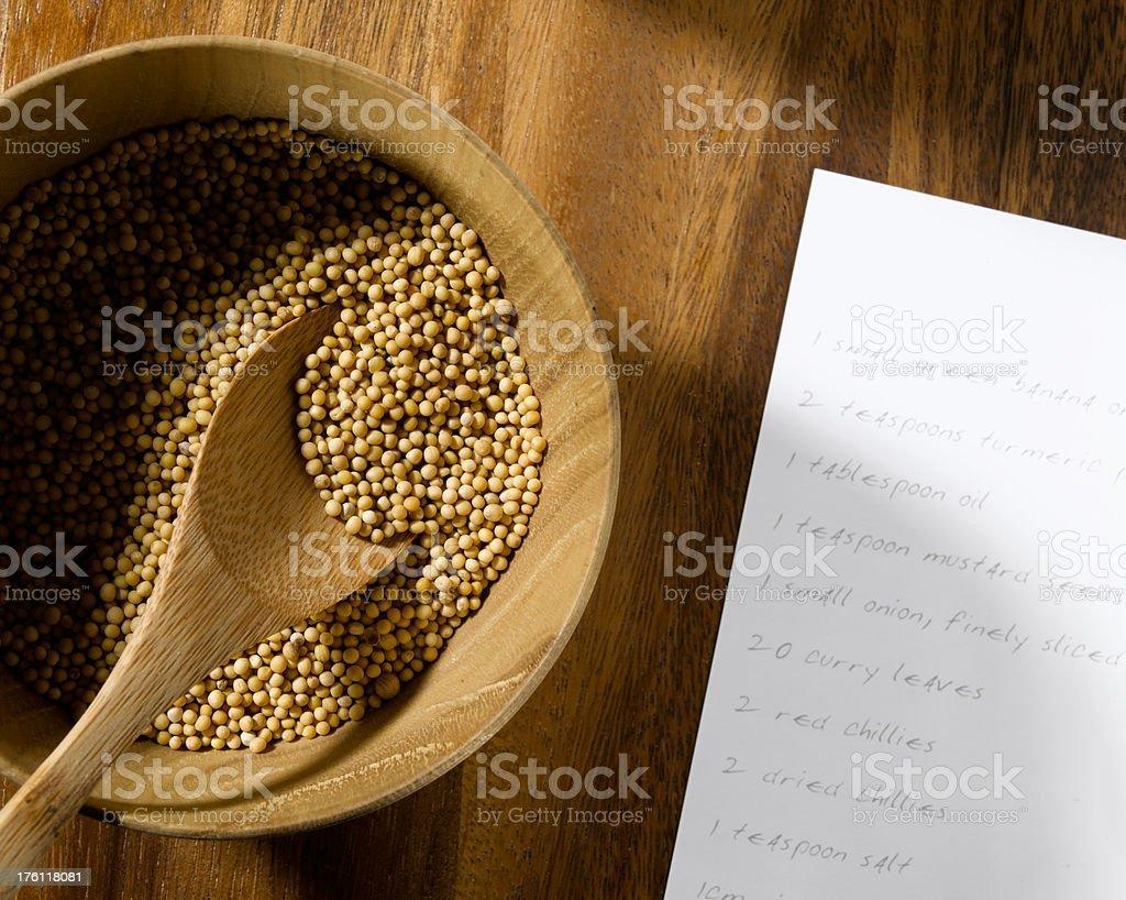 mustard seed royalty-free stock photo