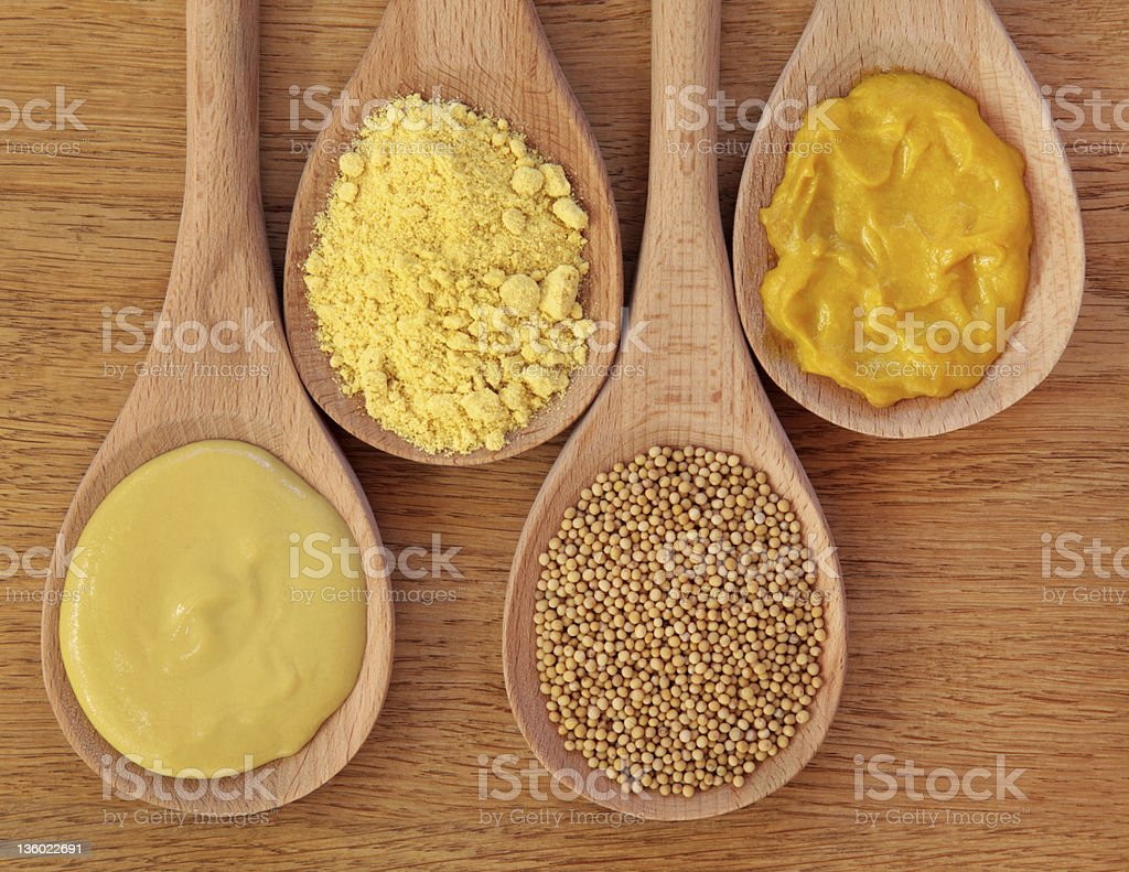 Mustard Selection stock photo