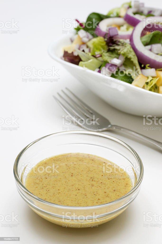 Mustard Vinaigrette Salad Dressing stock photo
