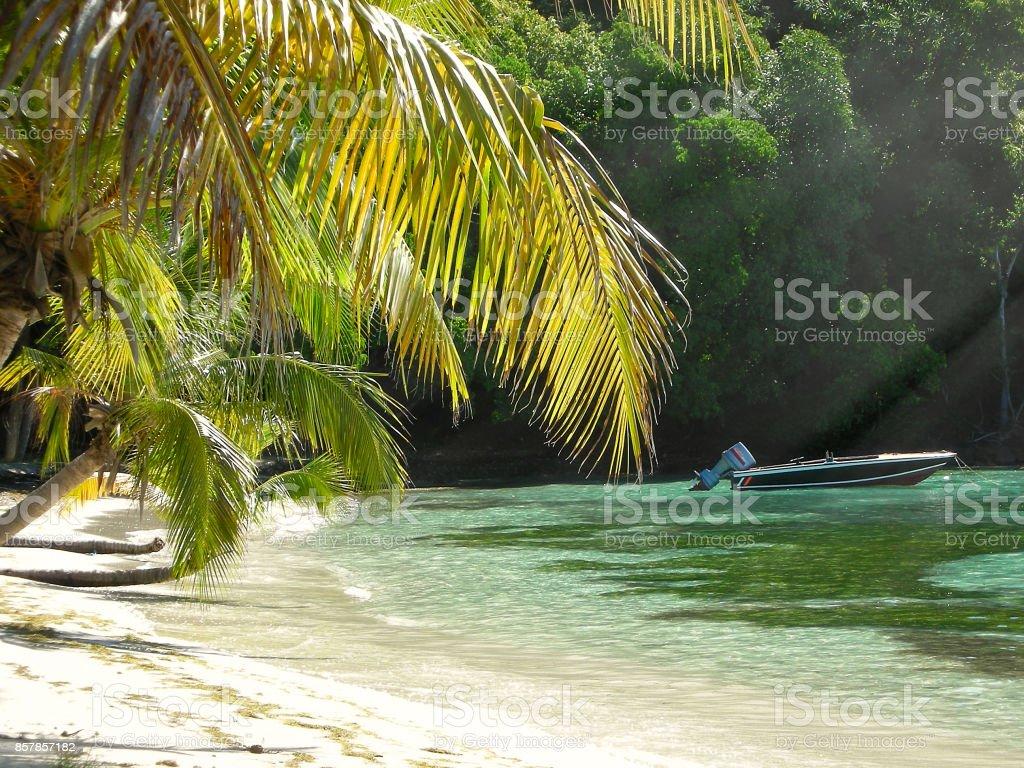 Mustique Cove stock photo