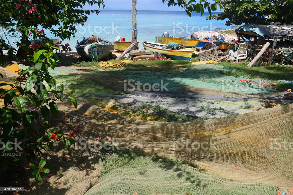 Mustique Island Britannia Bay St Vincent and The Grenadines stock photo