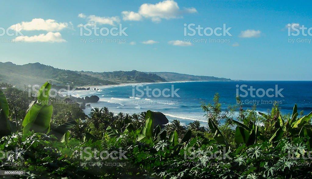 Mustique Island stock photo