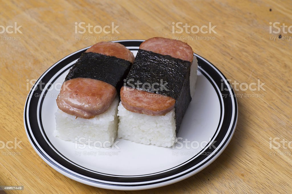 Musubi of Hawaii stock photo