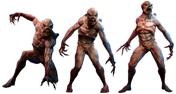 Mutant horrors A group of mutant horrors 3D illustration claw stock pictures, royalty-free photos & images