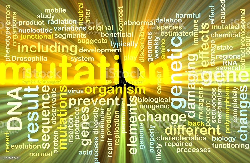 mutation wordcloud concept illustration glowing stock photo