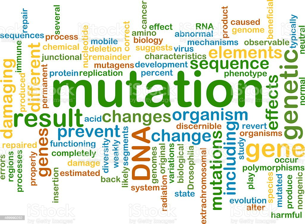 mutation wordcloud concept illustration stock photo