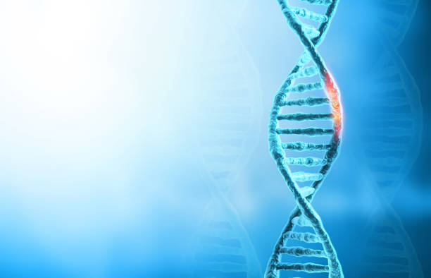 DNA mutations or  genetic disorder concept background stock photo