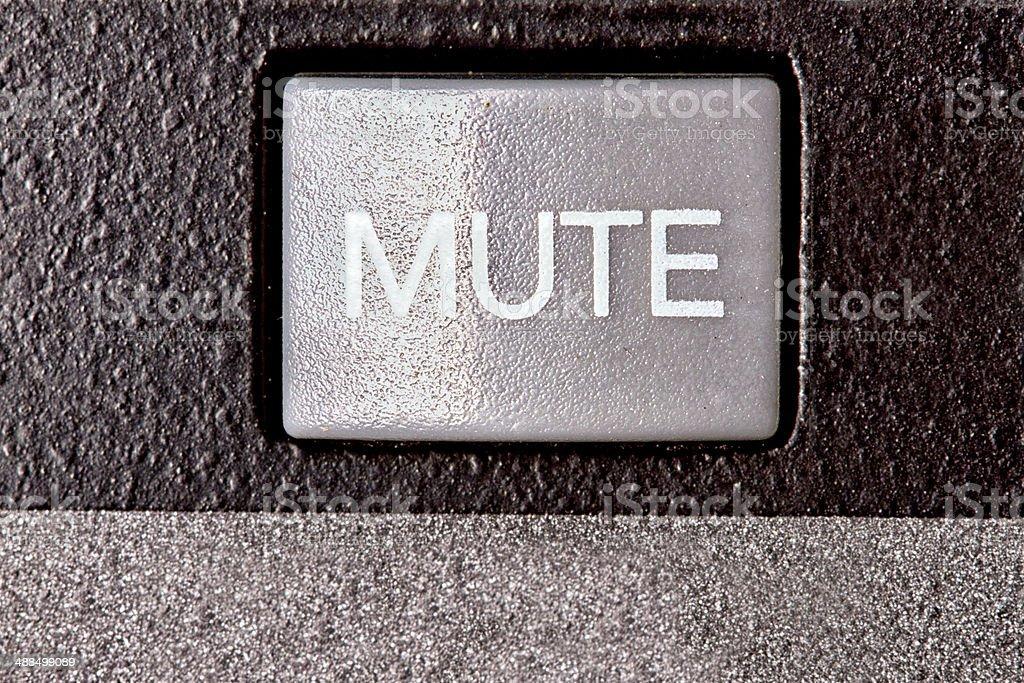 Mute Button stock photo