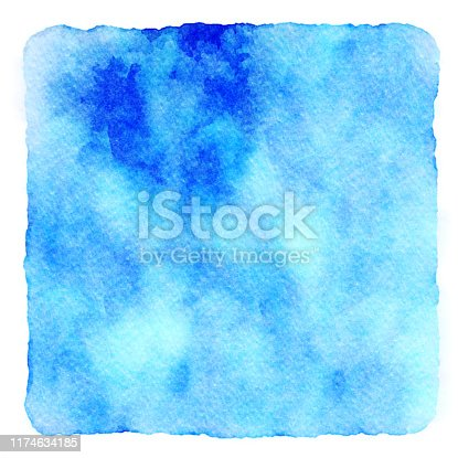 Muted blue and green artistic watercolor hand painted background art. copy space and no people.