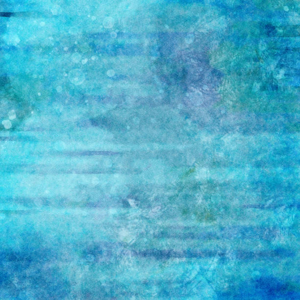 Muted blue and green artistic watercolor hand painted background art. Full frame with copy space and no people. stock photo