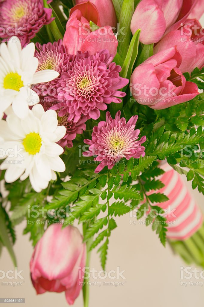 Muted toned flower bouquet stock photo