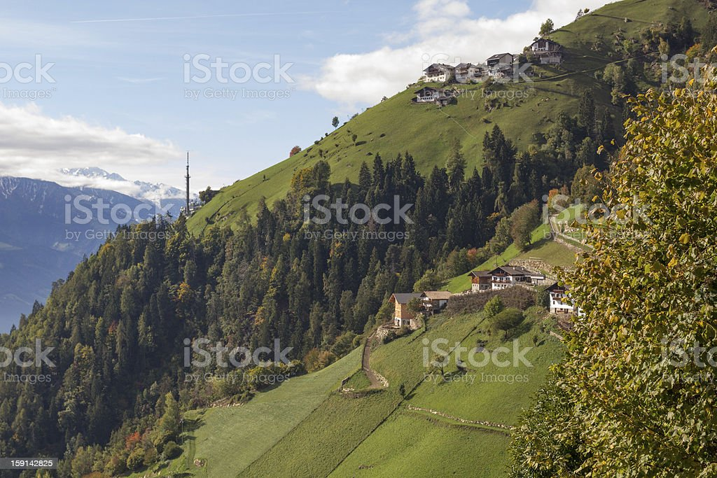 Muthoefe close to Meran royalty-free stock photo
