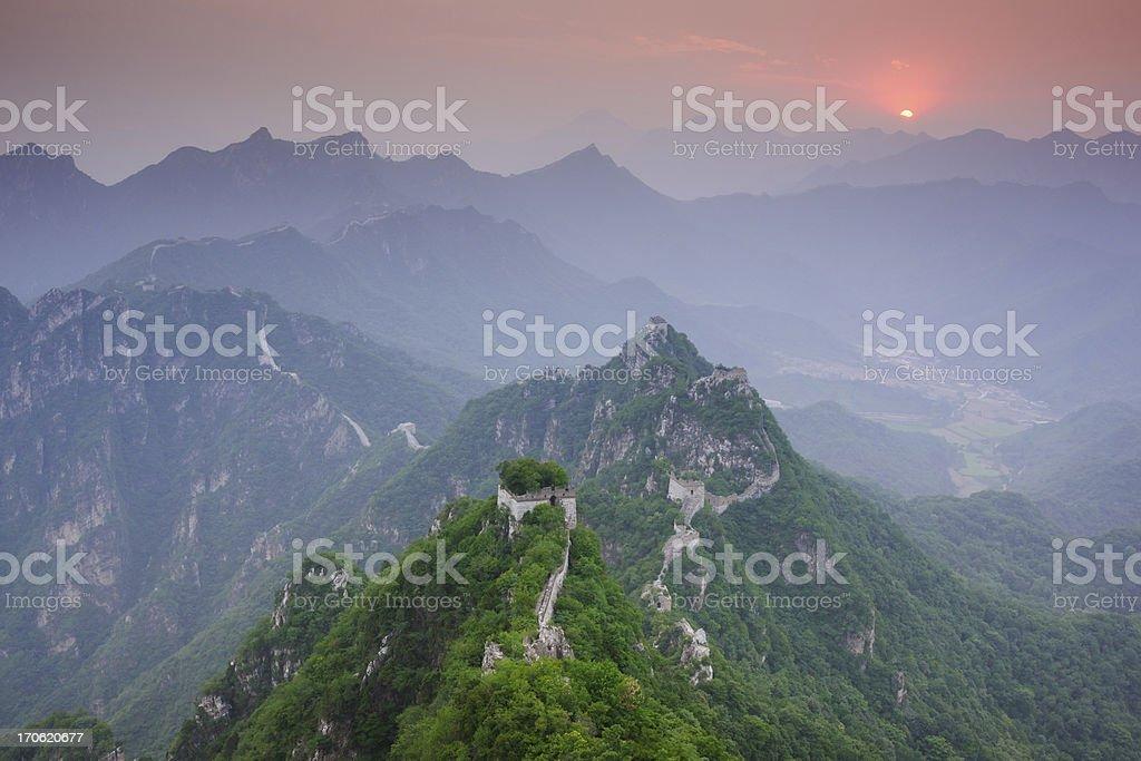 Mutianyu Great Wall in China royalty-free stock photo