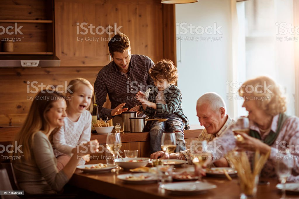 Mutli generation family stock photo