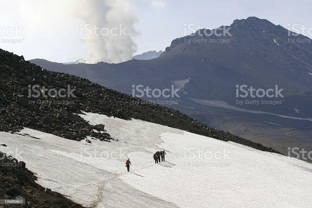 Mutnovskaya volcano. Kamchatka. royalty-free stock photo