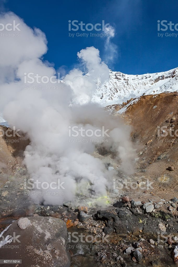 Mutnovsky Volcano stock photo