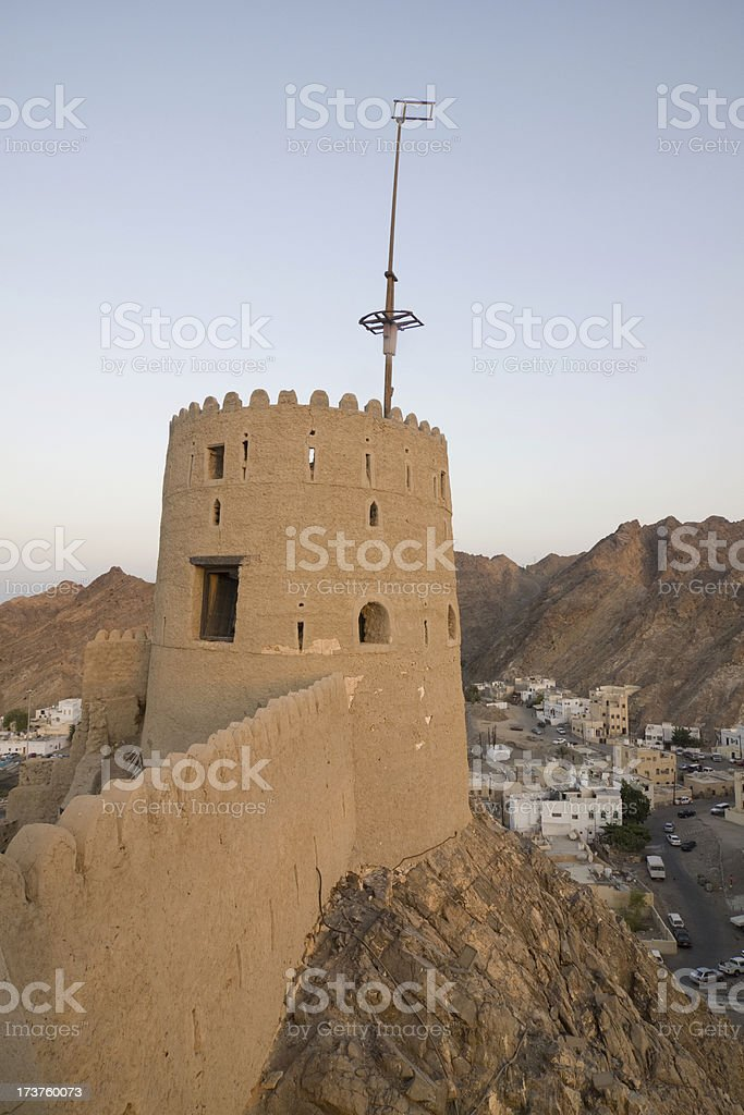 Mutrah fort, Muscat royalty-free stock photo