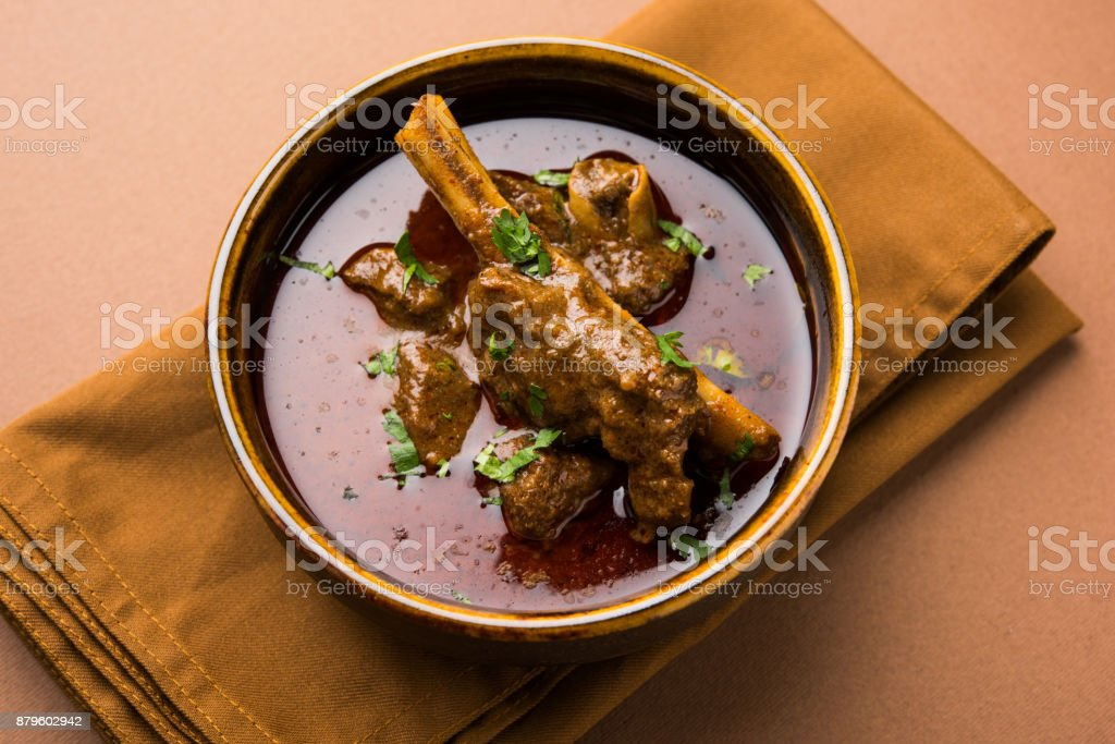 Mutton Curry or Or Masala Gosht or indian lamb rogan josh stock photo