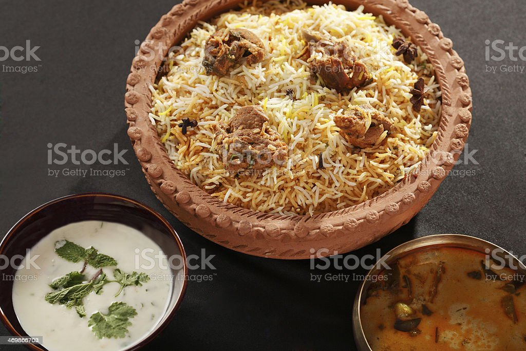 Mutton Gosht Biryani stock photo