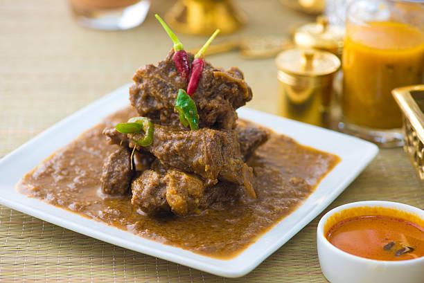 rogan josh presunto, carne de cordeiro ao curry, cozinha indiana - foto de acervo
