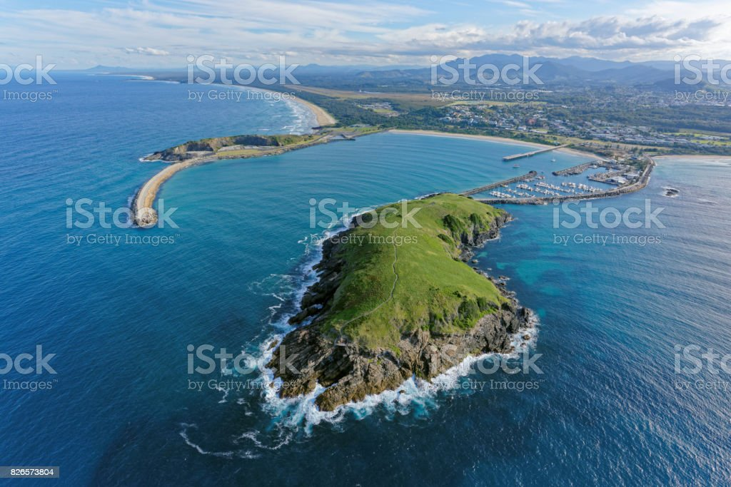 Muttonbird Island looking south-west stock photo