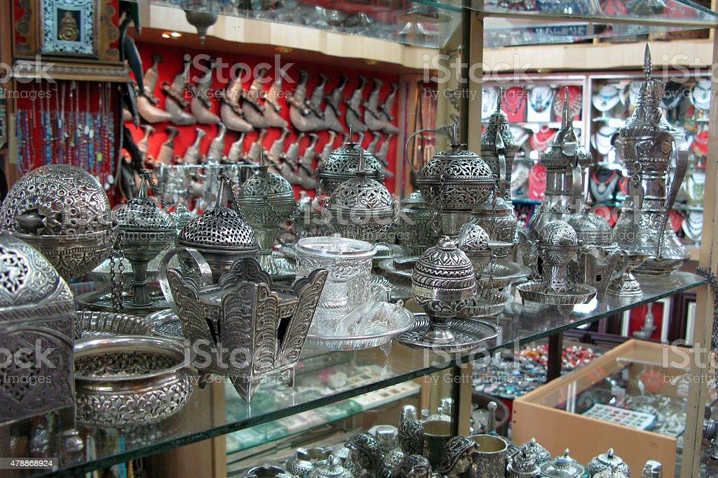Muttrah Market in Oman stock photo
