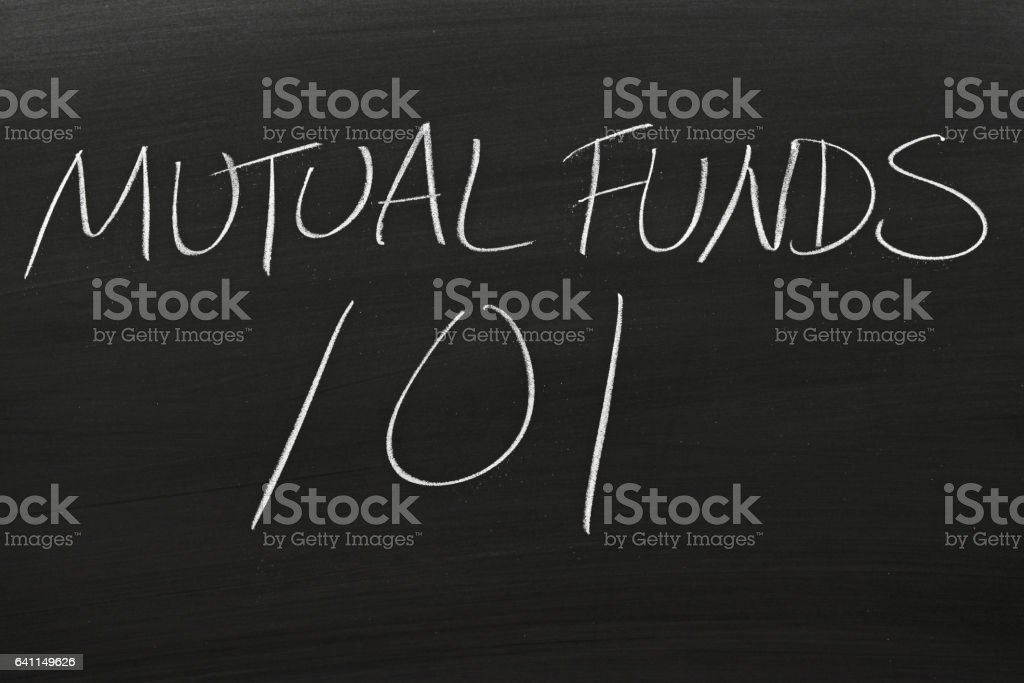 Mutual Funds 101 On A Blackboard stock photo