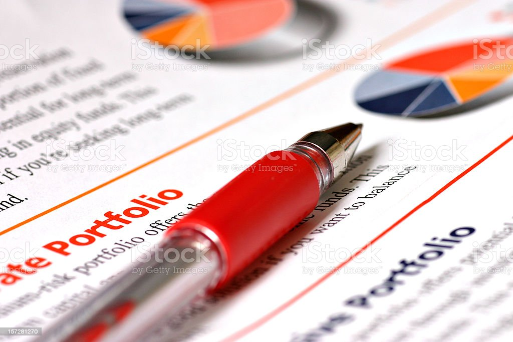 Mutual Funds Portfolio royalty-free stock photo