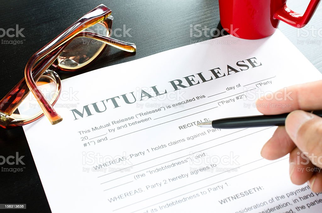 mutual release royalty-free stock photo