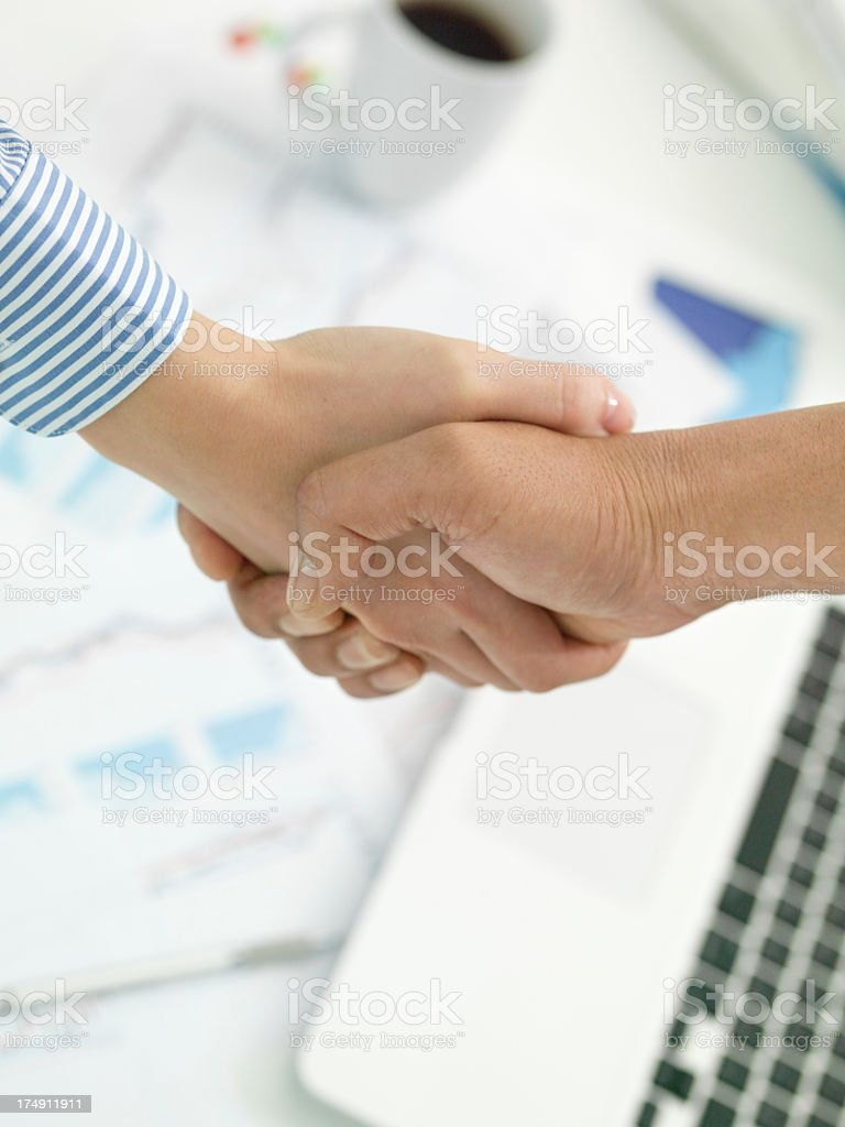 Mutual understanding between the business people. royalty-free stock photo