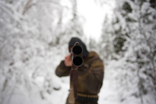 Muzzle of Hunter Rifle stock photo