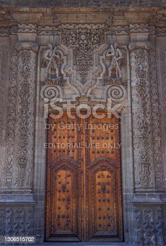 istock México, Ciudad de México; 03-08-2021: historic center of mexico city. museum entrance. 1306515702