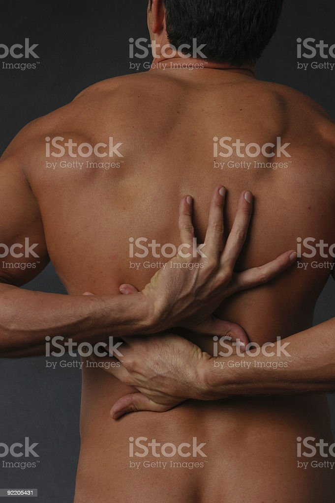 My aching back royalty-free stock photo