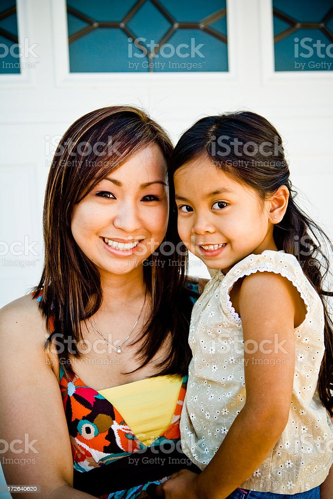 my aunt and me vertical shot royalty-free stock photo