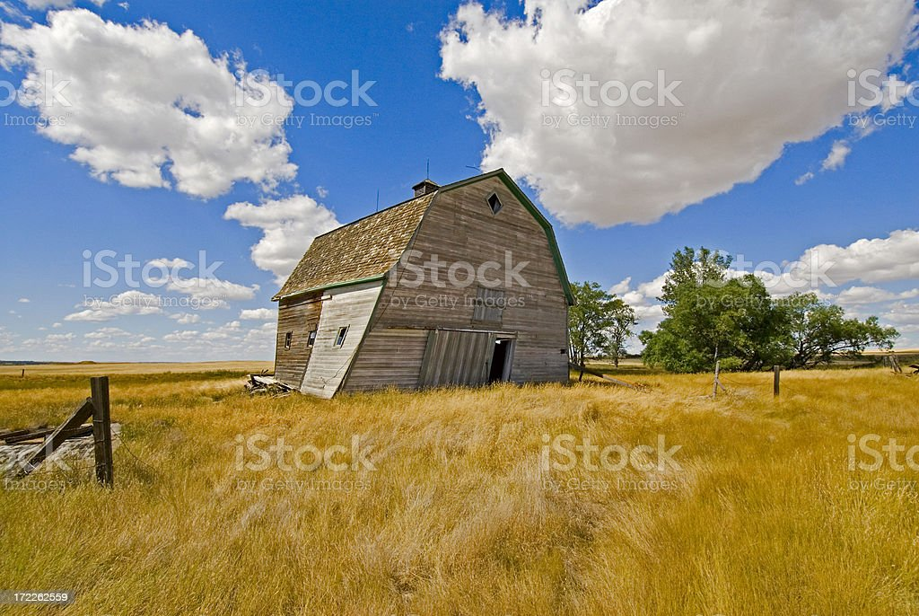 My barn on a beautiful summer afternoon royalty-free stock photo