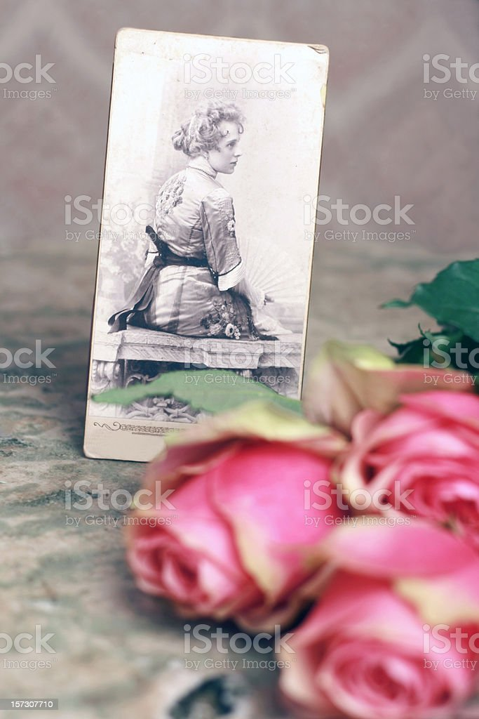 My beautiful grandmother stock photo
