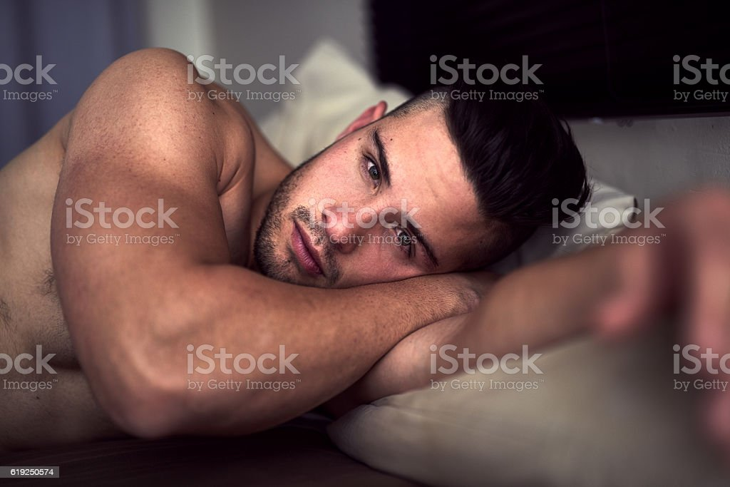 My bed, or yours? stock photo