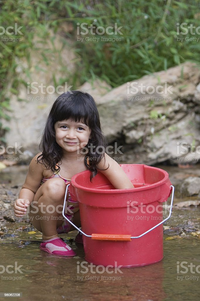 My Big Red Bucket royalty-free stock photo