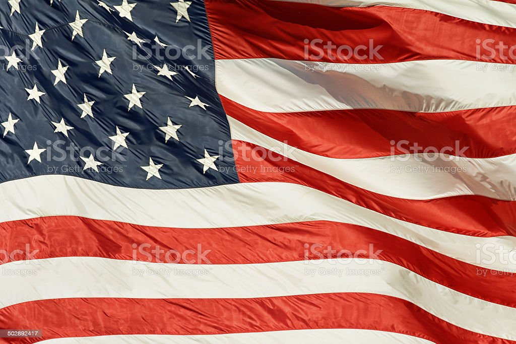 My blood is red, white and blue stock photo