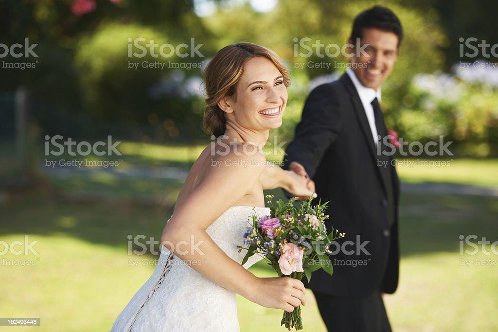 My blushing bride stock photo