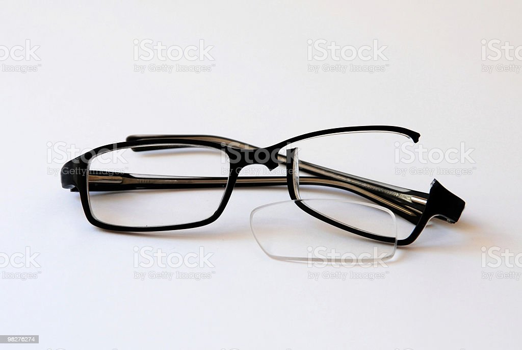My broken glasses after playing soccer :-( royalty-free stock photo