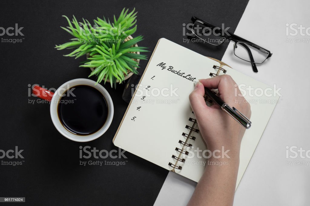 My Bucket List stock photo