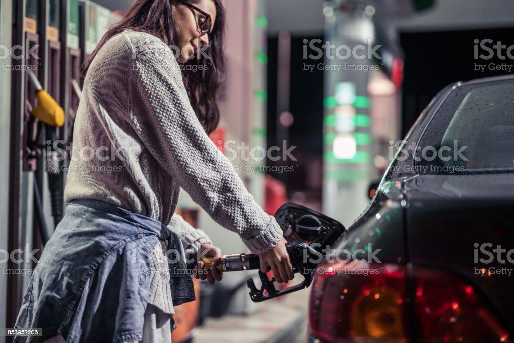 My car needs gasoline stock photo
