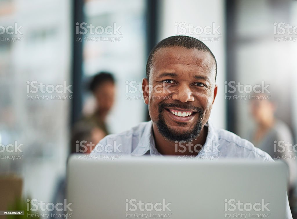 My career has brought me great satisfaction stock photo