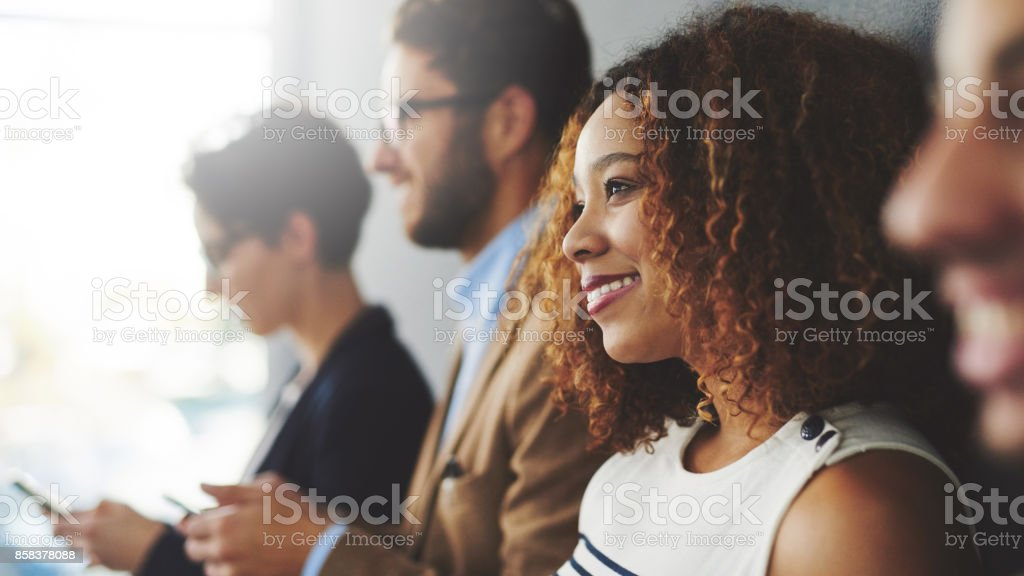 My career is going in the right direction stock photo