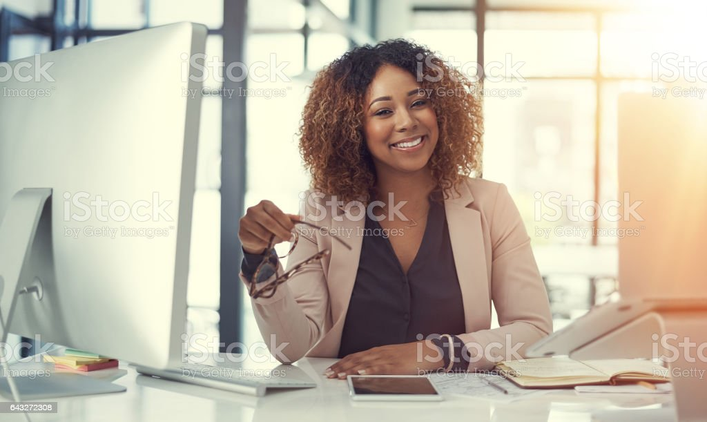 My career is right on track stock photo