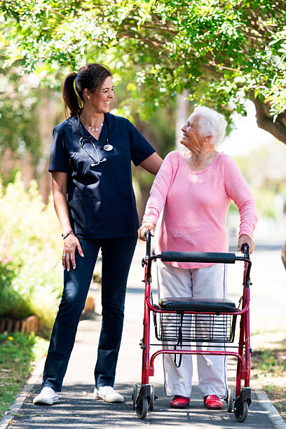 My Caregiver Has A Heart Of Gold stock photo