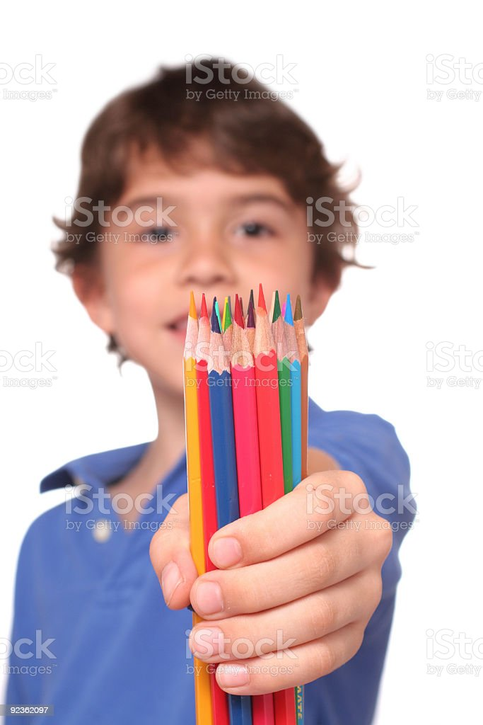 My color pencils royalty-free stock photo